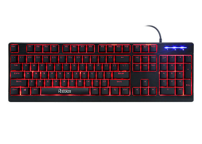 Mechanical Feeling 104 key keyboard , Backlit Ergonomic Keyboard 3 Color Adjustable