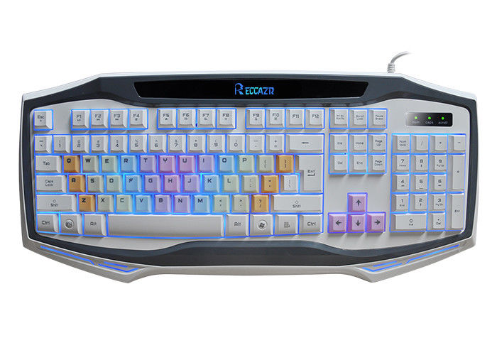 USB Wired Adjustable Backlit Gaming Computer Keyboard Rainbow Color Keycap